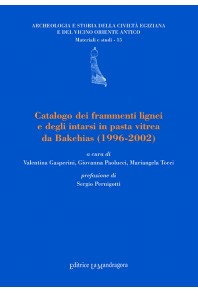 Catalogo dei frammenti lignei e degli intarsi in pasta vitrea da Bakchias, 1996-2002